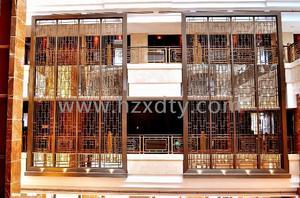 酒店铜屏风、铜栏杆
