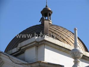 圆穹顶铜瓦片